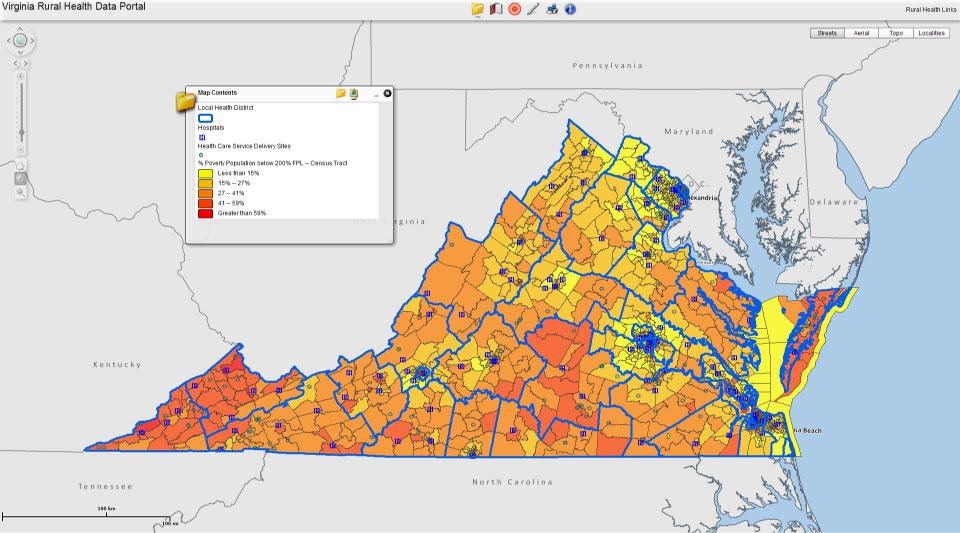 VANGHR - The Virginia Network for Geospatial Health Research